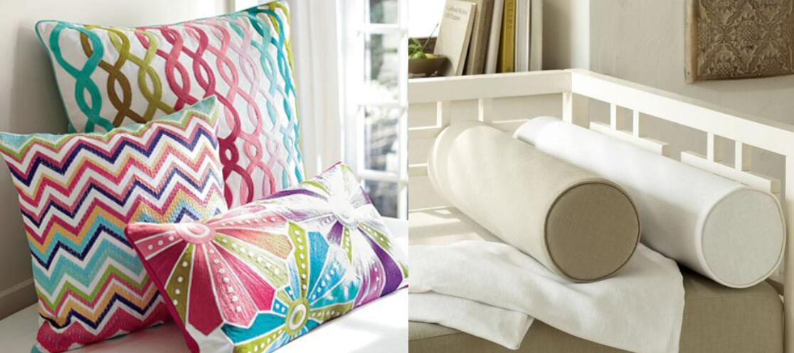 Colorful Accent Bolster Pillows For Bed And Couch